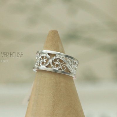 Swirl Filigree Wave Ring