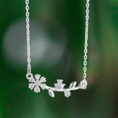 Flower Branch Necklace