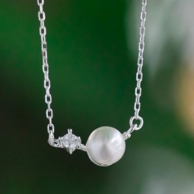 Pearl Necklace with Sterling Silver