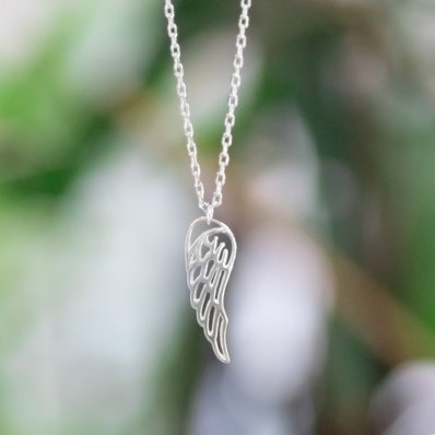 Angel's Wing Silver Necklace
