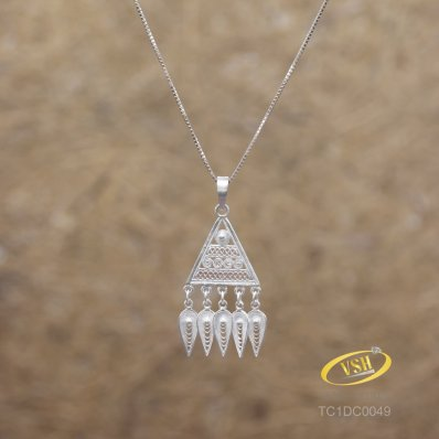 Triangle Filigree Pendant