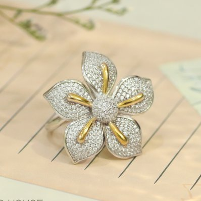 Apricot Flower Ring